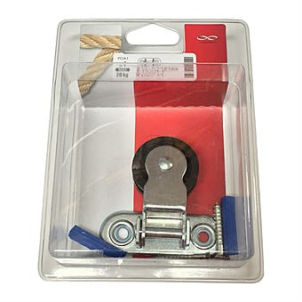 Chapuis Hinged Pulley with 40mm Roller Zinc Plated