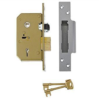 Union 5 Lever Mortice Lock 80mm Brass B3K75PL80