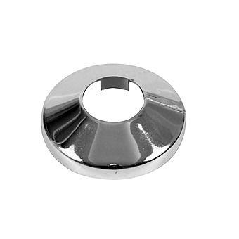 Plastic Chrome Radiator Collar for 15mm Pipe