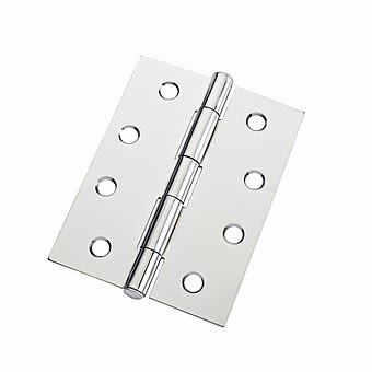 """4"""" Polished Chrome Loose Pin Butt Hinges"""