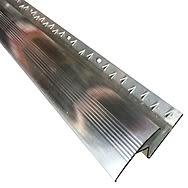 Zig Zag 14mm Carpet to Laminate Coverstrip 2.7m Aluminium