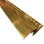 Zig Zag 14mm Carpet to Laminate Coverstrip 2.7m Gold