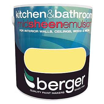 Berger Kitchen & Bathroom Mid Sheen Interior Paint Bright Day 2.5L