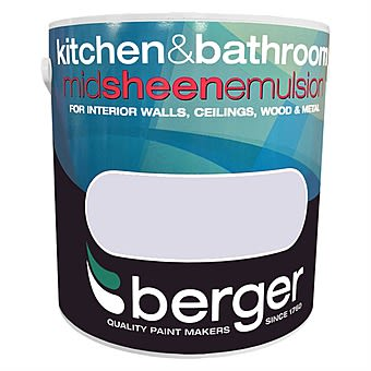 Berger Kitchen & Bathroom Mid Sheen Interior Paint Frosted Birch 2.5L