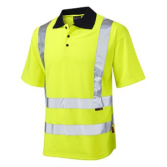 Picture of High Visibility Polo Shirt with Navy Collar