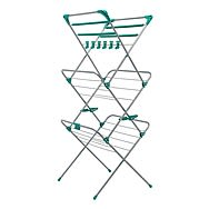 Addis Deluxe 3 Tier Silver And Aqua Green Airer