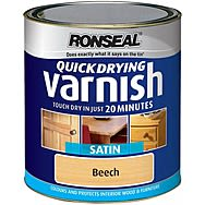 Ronseal Quick Drying Varnish Satin 250ML