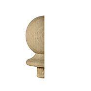 Richard Burbidge Pine Stair Ball Half Newel Cap 106 x 85 x 41mm