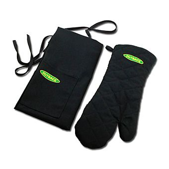 Outback BBQ Apron And Barbecue Grill Mitt Set