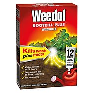 Weedol RootKill Plus Box of 12 Tubes Weedkiller