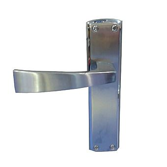 Picture of Ritz Backplate Bathroom Door Levers Handles IHRITBATH