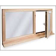 Window Frame Double Glaze Mahogany Or Redwood S/R 69 x 57mm