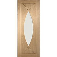 Internal Prefinished Pesaro Oak Door with Clear Glass