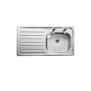Kitchen Single Bowl 2 Tap with Left Hand Drainer