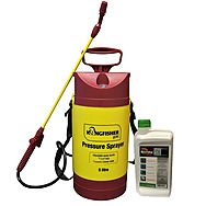Roundup Pro Bio Weed Control 1L & Kingfisher 5L Hand Pressure Sprayer