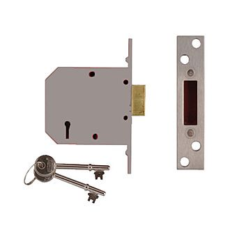 Picture of Union 5 Lever Timber Door Deadlock Silver