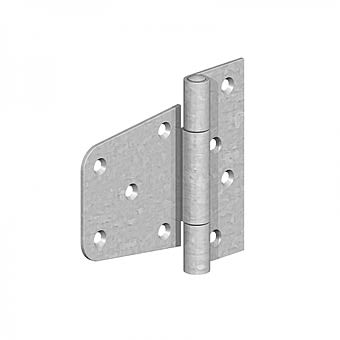 89mm Pair of Zinc Plated Heavy Duty Offset Hinges