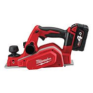 Milwaukee M18BP-402C 18V M18 Planer With 2 x 4.0Ah Red Li-Ion Batteries