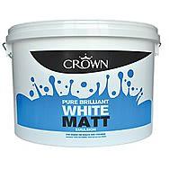Crown Paint Breatheasy Brilliant White Matt Emulsion 3 Litre