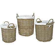 Rattan Langham Storage Basket by Manor
