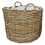 Rattan Storage Basket & Log Store Ritz by Manor