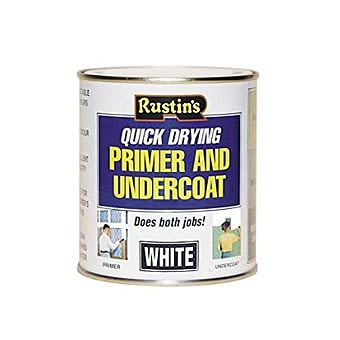 White Primer & Quick Dry Undercoat Paint by Rustins 500ml
