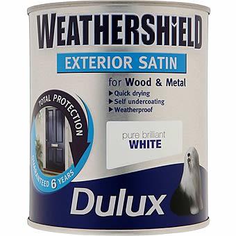 Dulux Weathershield Exterior Gloss Brilliant White 0.75L