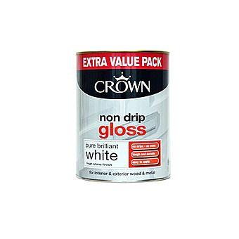 Crown 5026784 Non Drip White Gloss Paint 750ml