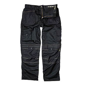 Picture of Apache APKHTBLK Black Work Trousers with Holster