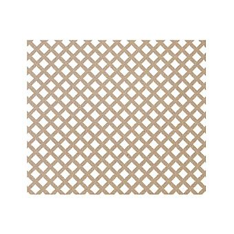 Unfinished MDF Radiator Screen / Panel Diamond Pattern - SP70