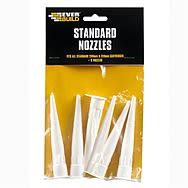 Everbuild Replacement Silicone Nozzle 6 Pack Spare Nozzles NOZSTD