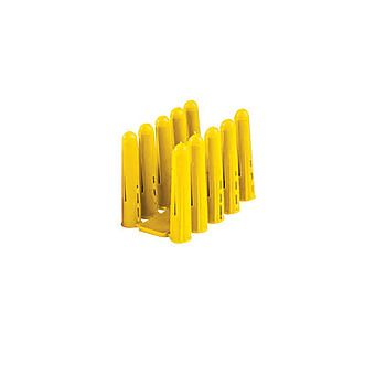 Sinops 20 x Plastic Yellow Wall Plugs 4-6mm
