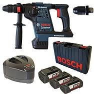 Bosch GBH36VFLI Plus 36 Volt Cordless SDS Hammer Drill With 3 x 4.0Ah Batteries