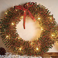 Gardman Pre Lit LED Round Christmas Wreaths