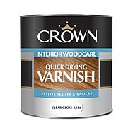Crown 1 Litre Quick Drying Varnish