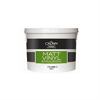Crown Trade 7.5L White Matt Vinyl Emulsion