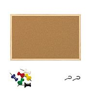 Cork Notice Board with Wood Frame 600 x 400mm