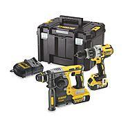 DeWalt DCK229P2T 18v Cordless SDS Drill and Combi Hammer Drill Brushless Twin Pack 2 x 5.0Ah Batteries