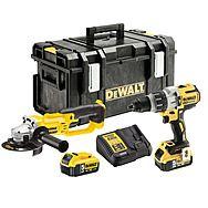 DeWalt DCK278P2 18V Twinpack DCD996 Combi Drill + DCG412 Angle Grinder