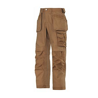 Picture of Snickers Trousers 3214 1212 Brown Canvas Cordura