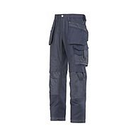 Snickers Trousers 3214 9595 Navy Canvas Cordura