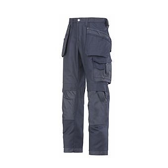 Picture of Snickers Trousers 3214 9595 Navy Canvas Cordura