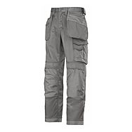 Snickers Trousers 3214 1818 Grey Canvas Cordura
