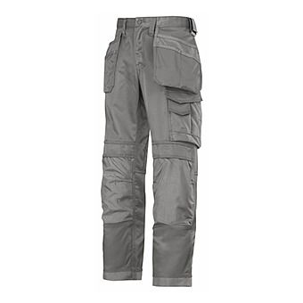 Picture of Snickers Trousers 3214 1818 Grey Canvas Cordura