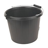 Black Builders Bucket With Pouring Lip 14.5 Litres
