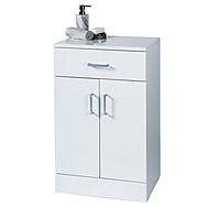 Showerdrape Salerno Freestanding White Cabinet
