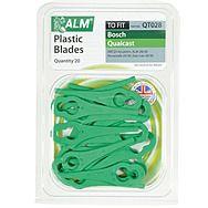 ALM QT028 Plastic Mower Blades 20 Pack