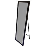 DeVielle Free Standing Mirror with Black Trim