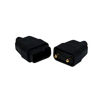 Jegs PPJ008PB 10-Amp 2-Pin Black Resilient Flex Connector