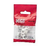 Jegs Round White Cable Clip 10 Pack